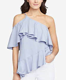 RACHEL Rachel Roy One-Shoulder Flounce Top, Created for Macy's