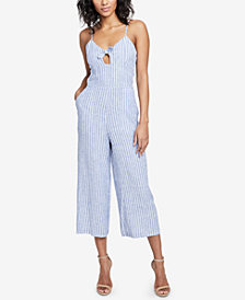 RACHEL Rachel Roy Cropped Cutout Jumpsuit, Created for Macy's