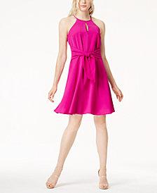 Bar III Tie-Waist Halter Dress, Created for Macy's