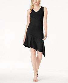 Bar III Sleeveless Asymmetrical-Hem Dress, Created for Macy's