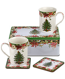 Spode Christmas Tree Annual 5-Pc. Collectors Tin Set