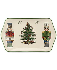 Christmas Tree Nutcracker Dessert Tray, Created for Macy's