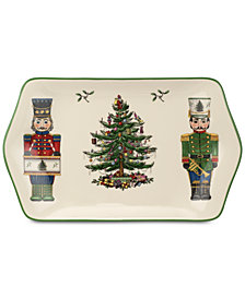 Spode Christmas Tree Nutcracker Dessert Tray, Created for Macy's