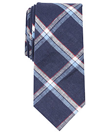 Tallia Men's Oliver Plaid Slim Linen Tie