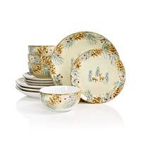 Deals on 222 Fifth First Snow 12-Pc. Dinnerware Set