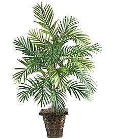 Nearly Natural Areca Palm Artificial Plant in Wicker Basket