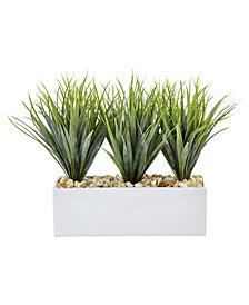 Nearly Natural Vanilla Grass Artificial Plants in Rectangular Planter
