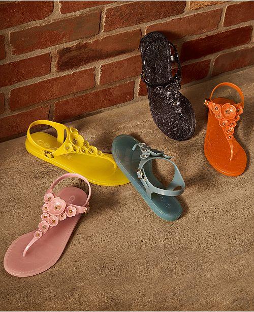 0929e97fb308 COACH Embellished Tea Rose Jelly Sandals   Reviews - Sandals   Flip ...