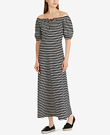 Lauren Ralph Lauren Lace-Up Maxidress