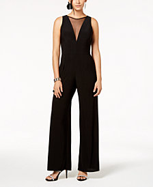 Nightway Illusion-V Wide-Leg Jumpsuit