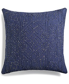 "Dori Embroidered 18"" Square Decorative Pillow, Created for Macy's"