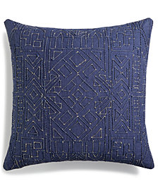 "Lucky Brand Dori Embroidered 18"" Square Decorative Pillow, Created for Macy's"