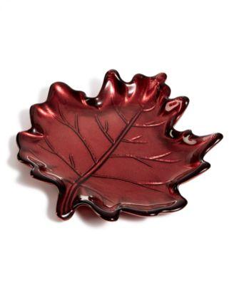 Red Leaf Appetizer Plate