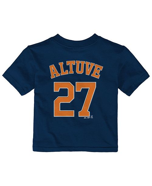 official photos 6689d ef9a8 Jose Altuve Houston Astros Official Player T-Shirt, Infants (12-24 Months)