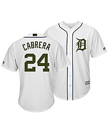 Majestic Men's Miguel Cabrera Detroit Tigers USMC Cool Base Jersey