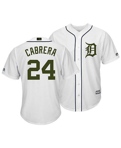 b452e12a0 Majestic Men s Miguel Cabrera Detroit Tigers USMC Cool Base Jersey ...