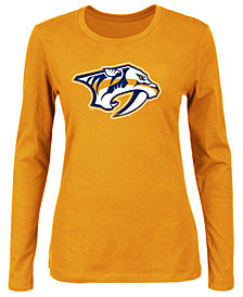 Majestic Women's Nashville Predators Primary Logo Long Sleeve T-Shirt