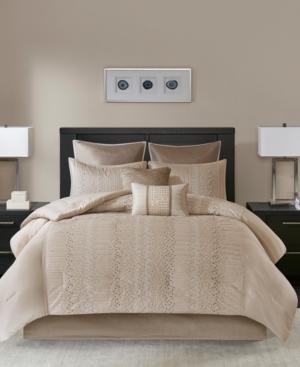 Madison Park Camelia 8Pc California King Comforter Set Bedding