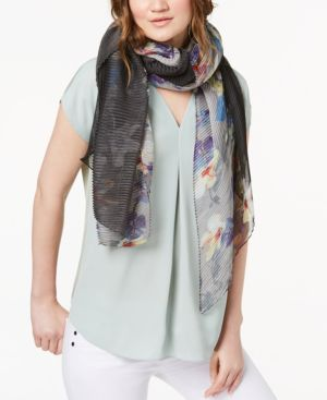 Cejon Orchid Bloom Ombre Chiffon Scarf 6083947