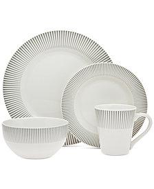CLOSEOUT! GodingerRavi Gray 16-Pc. Dinnerware Set, Service for 4