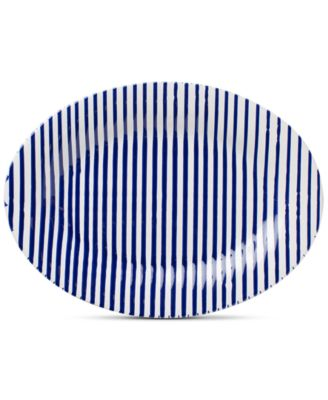 Net & Stripe Stripe Medium Oval Platter