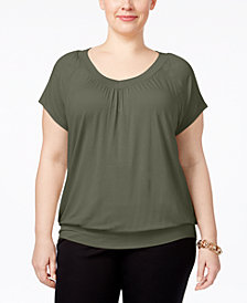 JM Collection Plus Size Blouson Top, Created for Macy's