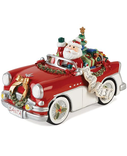 Fitz and Floyd Santa in His Musical Car Collectible Figurine
