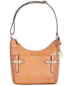 Giani Bernini Bridle Leather Hobo, Created for Macy's