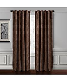 """Croscill Murray Hill 54"""" x 84"""" Textured-Stripe Back Tab Window Panel"""