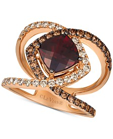 Le Vian® Pomegrate Garnet™ (2-3/4 ct. t.w.) & Diamond (1 ct. t.w.) Ring in 14k Rose Gold