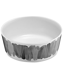 TarHong Watercolor Brush Strokes Medium Melamine Pet Bowl