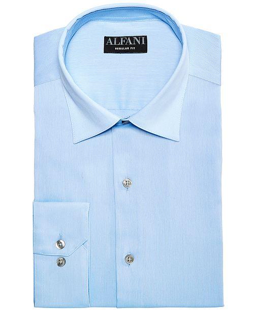 edf913413 Alfani AlfaTech by Men's Slim Fit Bedford Cord Dress Shirt, Created ...