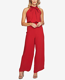 CeCe Tie-Neck Sleeveless Jumpsuit