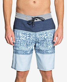 "Quiksilver Men's Waterman Liberty Triblock Printed 7"" Swim Trunks"