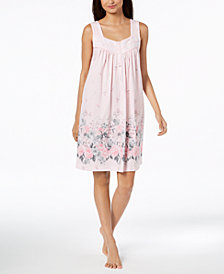 Charter Club Cotton Sleeveless Nightgown, Created for Macy's
