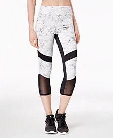Material Girl Juniors' Cropped Illusion-Contrast Leggings, Created for Macy's