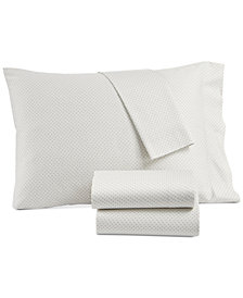 Lucky Brand Kashmir Cotton Sateen 230-Thread Count 3-Pc. Printed Twin XL Sheet Set, Created for Macy's