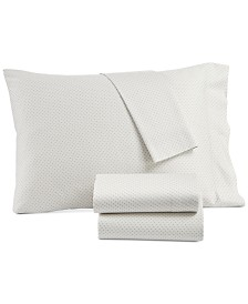 CLOSEOUT! Lucky Brand Kashmir Cotton Sateen 230-Thread Count 4-Pc. Printed King Sheet Set, Created for Macy's