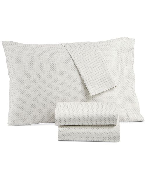 Lucky Brand CLOSEOUT! Kashmir Cotton Sateen 230-Thread Count 3-Pc. Printed Twin XL Sheet Set, Created for Macy's