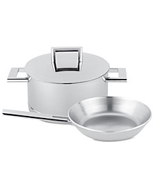 John Pawson 3-Pc. Stainless Steel Cookware Set