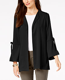 Alfani Petite Tie-Sleeve Jacket, Created for Macy's