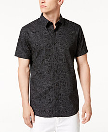 Calvin Klein Men's Floral Regular Fit Dot-Print Shirt