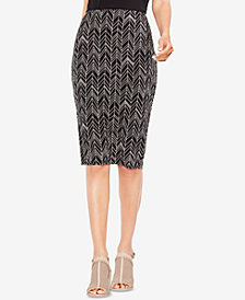 Vince Camuto Printed Pencil Skirt