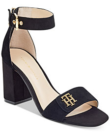 Tommy Hilfiger Sheerah Two-Piece Block-Heel Sandals
