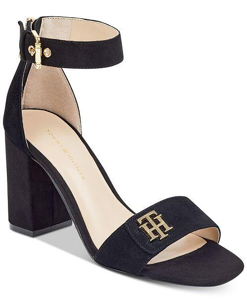 50f90c87e Tommy Hilfiger Sheerah Two-Piece Block-Heel Sandals   Reviews ...