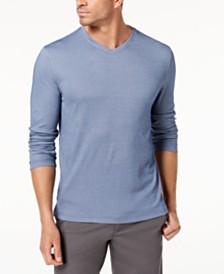 Tasso Elba Men's Supima® Blend Knit V-Neck Long-Sleeve T-Shirt, Created for Macy's