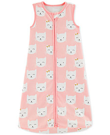 Carter's Baby Girls Kitten-Print Cotton Sleep Bag