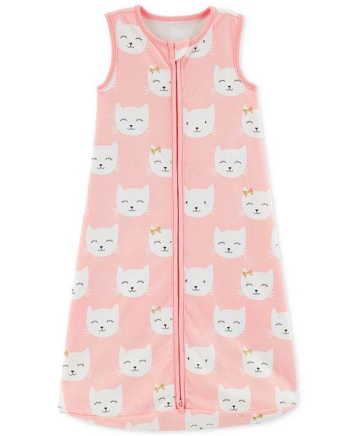 38aa737940 Carter s Baby Girls Kitten-Print Cotton Sleep Bag - Pajamas - Kids ...
