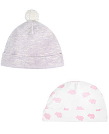 First Impressions Baby Girls 2-Pk. Hats, Created for Macy's
