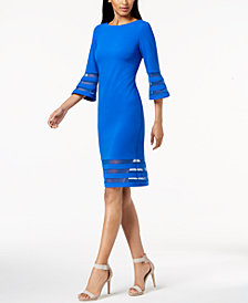 Calvin Klein Illusion-Trim Sheath Dress